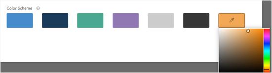 Choose a Color Scheme for Your Conversational Form Page