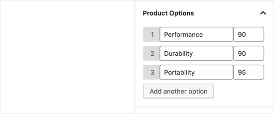 Product features and grading