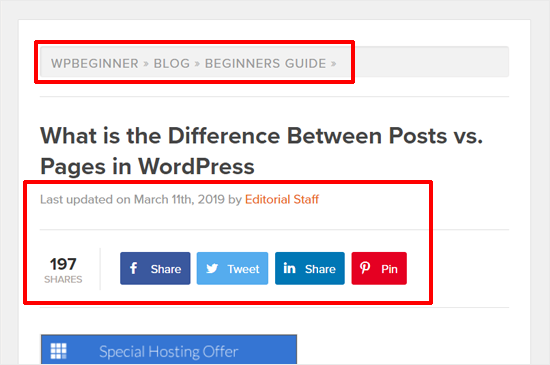 WordPress Post Example WPBeginner Blog