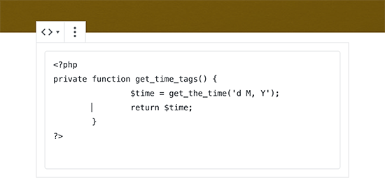 Add code to your blog post