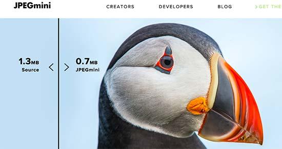 JPEGMini online image compression tool