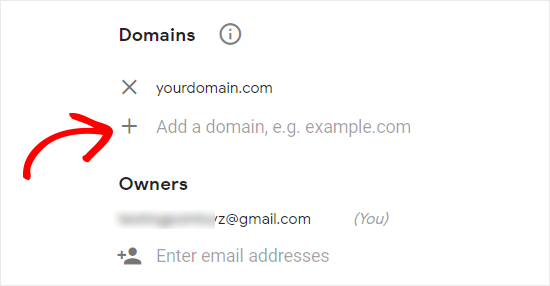 Add Domain and Email to reCAPTCHA Site