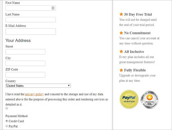 Add your personal details