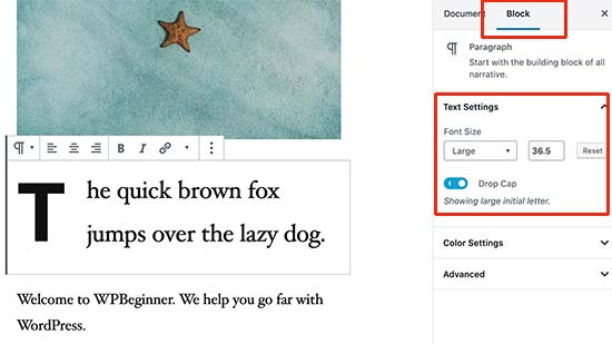 Change font size in WordPress content editor