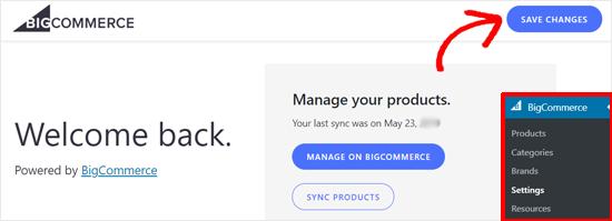 Save Settings BigCommerce for WordPress