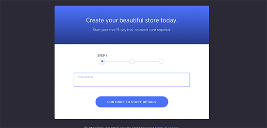 Sign up for BigCommerce account