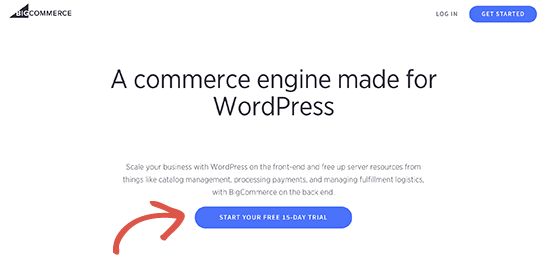 Sign up for BigCommerce