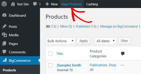 View BigCommerce Products in WordPress