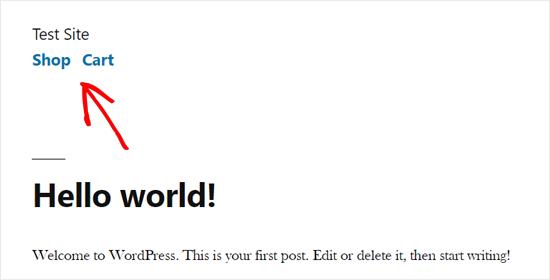WordPress Primary Menu Demo