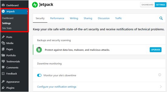 Jetpack Features on Self-hosted WordPress Blog