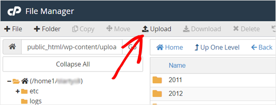 Upload htaccess file to your WordPress site