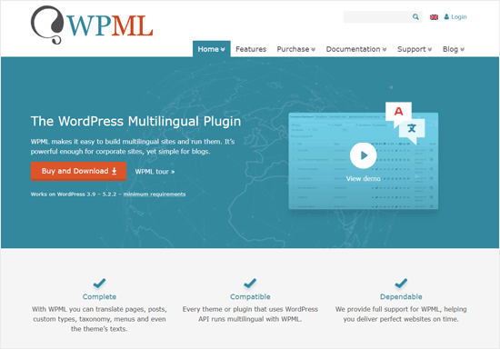 WPML Best WordPress Multilingual Plugin and Company