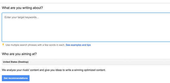 Add keyword suggestions