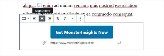 Align Center Your Button in WordPress Block Editor