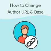 How to Change Author URL Slug and Base in WordPress