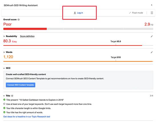 Connect WordPress to your SEMRush account