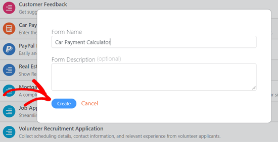 Name and Create Car Payment Calculator in WordPress