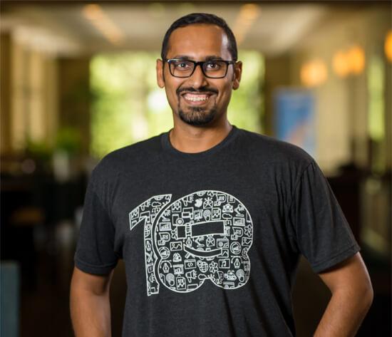 Syed Wearing WPBeginner T-Shirt