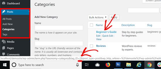 WordPress Category ID