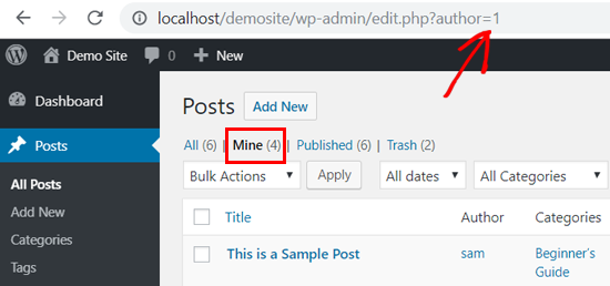 Your User Profile ID in WordPress - On Browser's Address Bar
