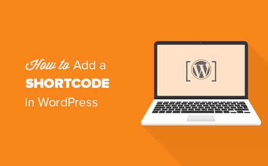 Adding a shortcode in WordPress