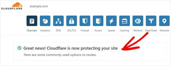 [Image: cloudflareactivatedsuccessmessage.png]