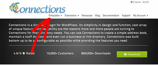 Connections Pro templates and extensions