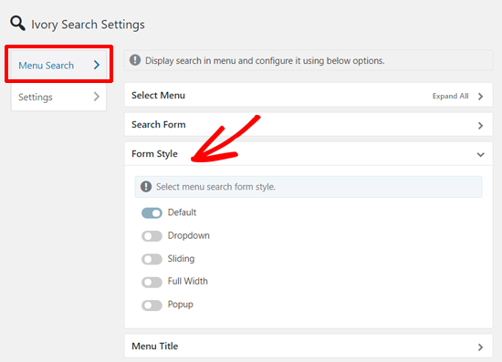 Ivory Search Form Styles