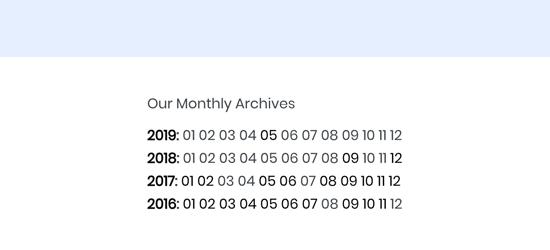 Numeric archives