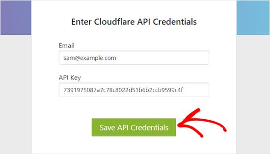 Save Cloudflare API Credentials in WordPress