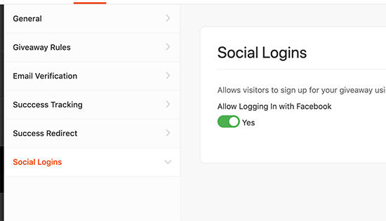 Enable social logins