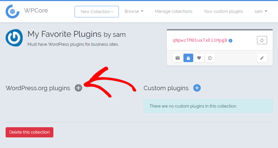 Add Plugins on Your Plugin Collection on WPCore