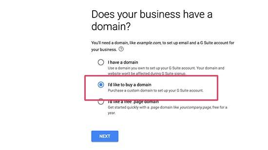 Buy domain name