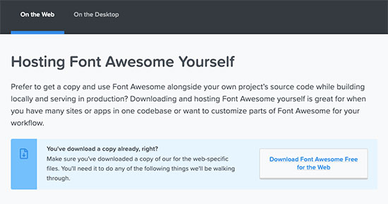 Download icon font to your computer