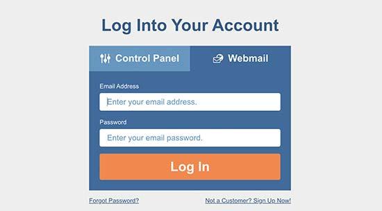 HostGator webmail login