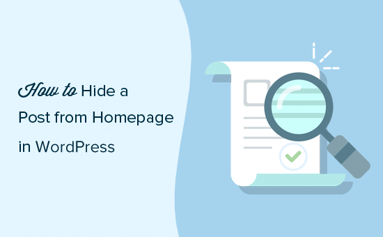 Hide Posts from Home Page in WordPress
