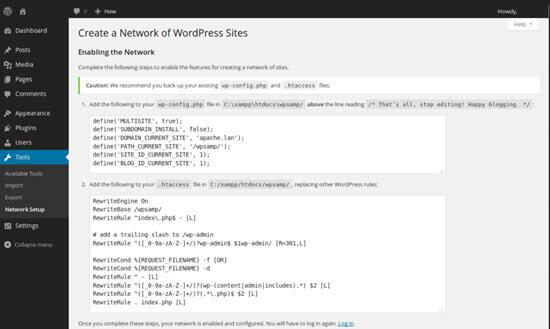 Enabling multisite network
