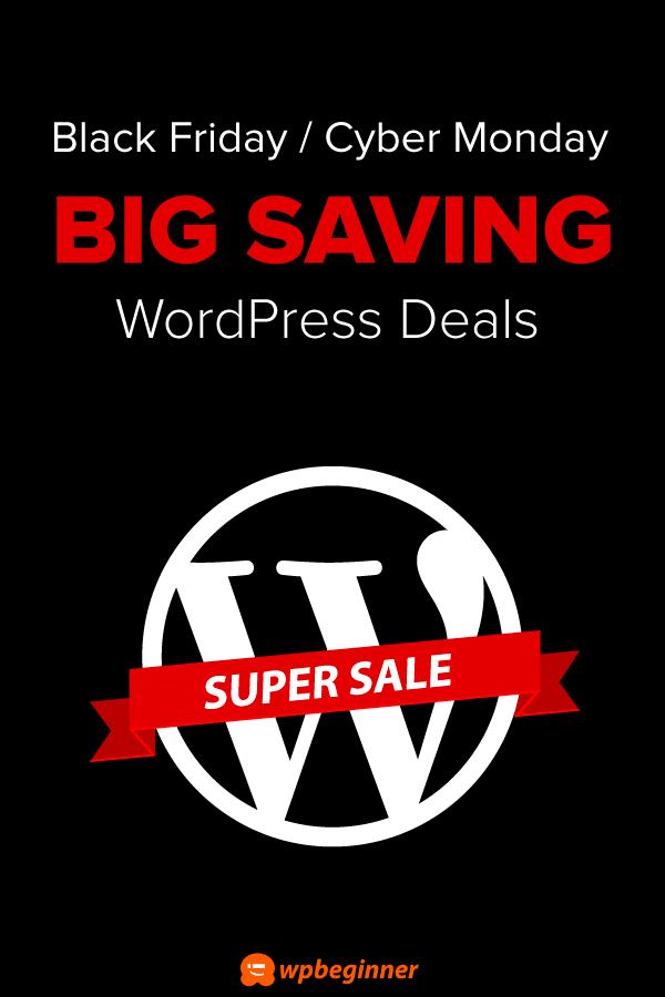 2020 WordPress Black Friday / Cyber Monday Deals (Huge Savings)