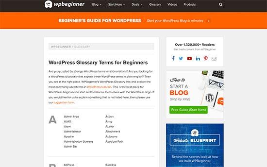 WPBeginner Glossary