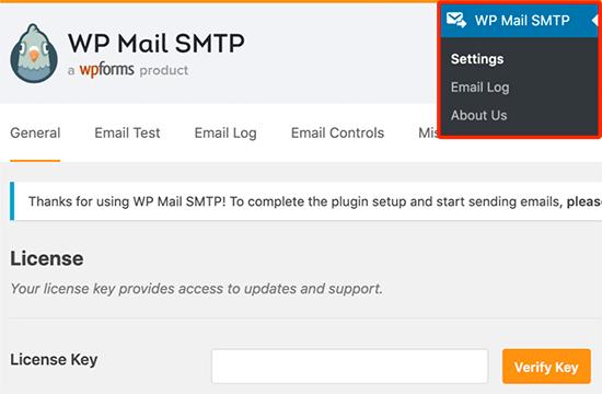 WP Mail SMTP license key