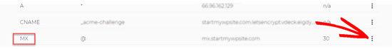 Selecting DNS MX Record