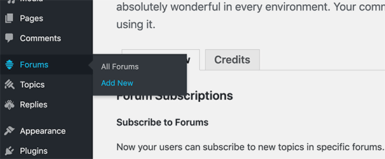 Add new forum