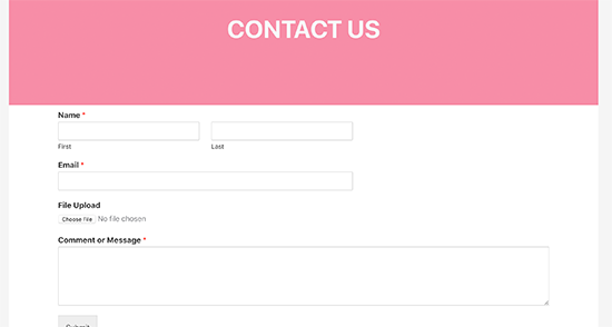 Previewing Dropbox upload form