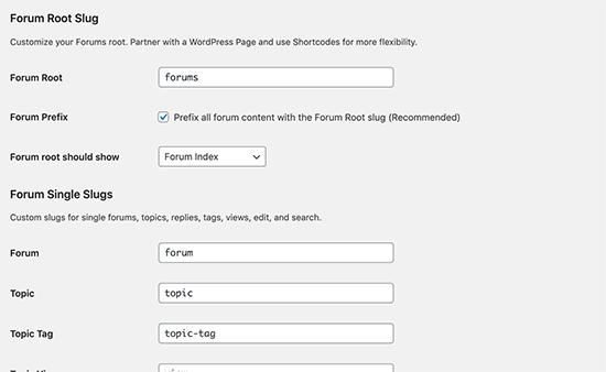 Change forum URL slugs