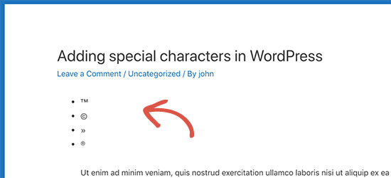 HTML entities converted into special characters