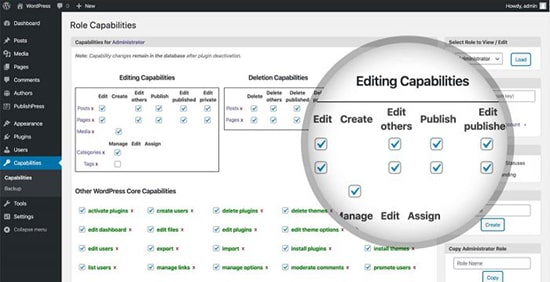 PublishPress Capabilities lets you modify and create your own user roles
