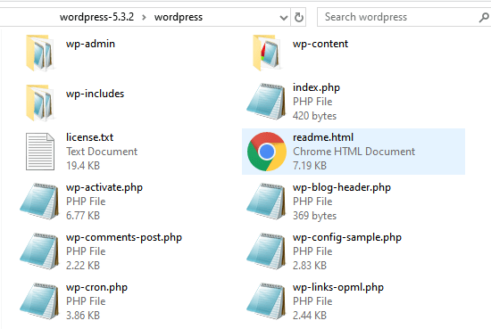 PHP files in WP