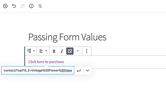 Adding URL to your post