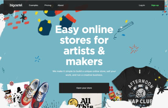 The Big Cartel eCommerce platform's website