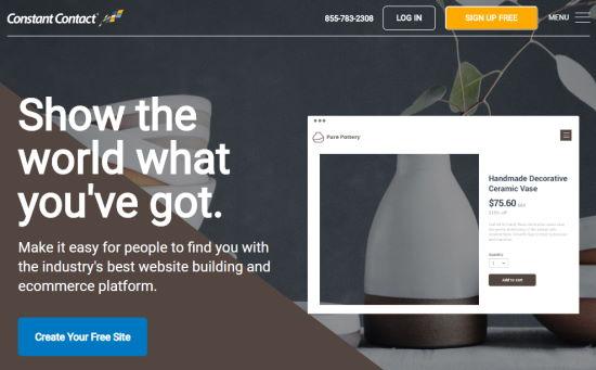 Constant Contact's eCommerce website builder